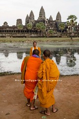 "Say ""Cheese"" (Barbara Oggero) Tags: street people photography cambodia cambodian fineart streetphotography buddhism angkorwat monks angkor freelance cambogia"