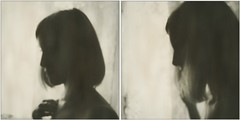 (Osyam-osyam) Tags: light shadow portrait bw white haircut black film girl silhouette sepia dark hair polaroid nose mono hand double short split thin sideview shoulder impossible
