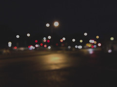 Traffic lights unfocused