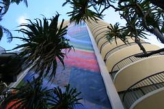 Rainbow Tower (Topspotter75) Tags: hawaii rainbowtower rainbowmural hiltontowerhawaii