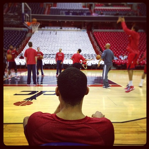 Young Simba Otto Porter... watching, learning... about the #Wizards.
