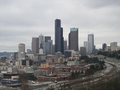 Seattle skyline from Jose Rizal Park (SounderBruce) Tags: seattle skyline i5 freeway interstate5 joserizalpark