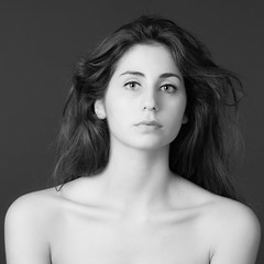 Cris (csbphoto1960) Tags: portrait blackandwhite woman studio nude model cristina csbphoto