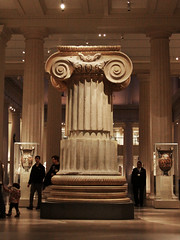 Giant Column (lefeber) Tags: nyc newyorkcity newyork architecture ancient shadows interior columns carving swirls artmuseum pillars themet metropolitanmuseumofart scrolls