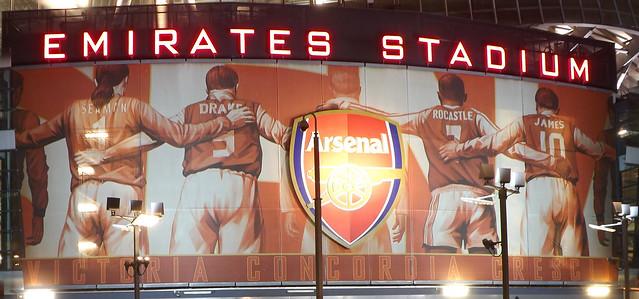 The Emirates Stadium exterior