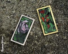 Mosaic Jewellery (24) (Kupava ArtHome) Tags: flowers jewellery frame mosai kupavaart