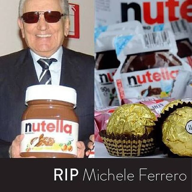😔RIP Michele #Ferrero 😭 pray for him #Nutella lovers 💔