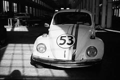 NCTrain_NeopanAcros11 (neilcar) Tags: blackandwhite bw monochrome bug volkswagen blackwhite beetle 6x9 53 herbie fujineopanacros nctransportationmuseum fujigw690ii