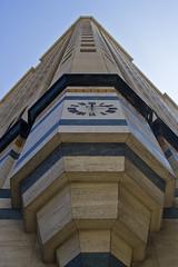 The Faade #2 (Niels Kim) Tags: sky usa holiday building clock facade america la vakantie losangeles downtown unitedstates unitedstatesofamerica financialdistrict vs amerika faade verenigdestaten