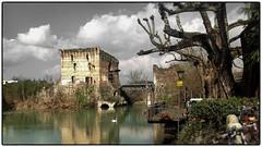 borghetto sul mincio (sergiocol67) Tags: bridge sky italy lake colour clouds river landscape lago nice garda emotion borghetto mincio