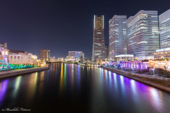 Yokohama Minato Mirai 21 (Masahiko Futami) Tags: ocean reflection building japan architecture night canon cityscape photographer illumination 日本 yokohama kanagawa 海 横浜 建築 建物 神奈川県 夜 みなとみらい minatomirai21 反射 イルミネーション みなとみらい21 eos5dmarkiii citytraveler シティートラベラー