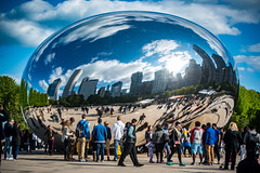 It's just a Wow yesterday (Flipped Out) Tags: chicago millenniumpark cloudgate