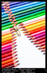 Color Pencils (__Viledevil__) Tags: wood pink blue red orange brown white color colour green art yellow pen pencil creativity design wooden rainbow colorful paint purple spectrum bright vibrant pastel background object group row tip zipper write draw crayon multicolored palette