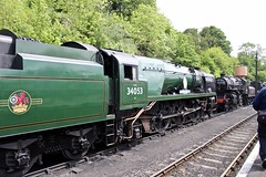 Steamers sidelined (Cosmo's Train & Gig Photos) Tags: preserved sr 260 southernrailway svr lms severnvalleyrailway bewdley 462 battleofbritainclass 34053 43106 heritageline sirkeithpark classbb londonmidlandscottishrailway 21c153 ivattdesigned bulleiddesigned