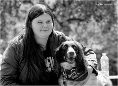 Jade with Billy (SteveH1972) Tags: park england blackandwhite bw monochrome europe britain billy humberbridge eastyorkshire 2016 northernengland hessle canonef70200mmf28lusm canon600d humberbridgeviewingpark