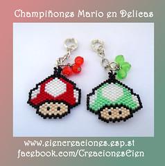 Champiñones Mario (eiencreaciones) Tags: handmade mario hechoamano delicas charmschampiñones