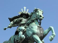 Tokyo Urban Landscapes #112 (tt64jp) Tags: city urban horse statue japan japanese tokyo capital  warrior metropolis  samurai japon urbanlandscape   chiyoda          kusunokimasashige tokyoimperialpalace    nanbokucho    emperorgodaigo
