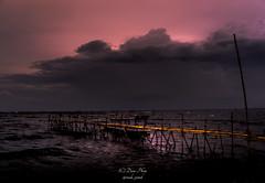 Big storm... (madi_patub) Tags: longexposure sunset storm beach indonesia landscape landscapephotography landscapeshot tanjungkait