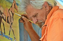 Eye of a Master (forestforthetress) Tags: man color art nikon artist outdoor painter omot