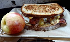 Farmer's Breakfast sandwich American Grilled Cheese Kitchen (Fuzzy Traveler) Tags: sanfrancisco food apple cheese breakfast bread restaurant bacon egg sandwich butter grilledcheese americangrilledcheese