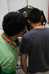 "Steven and Javier check the alignment • <a style=""font-size:0.8em;"" href=""http://www.flickr.com/photos/27717602@N03/26955916552/"" target=""_blank"">View on Flickr</a>"
