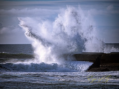 Jetty Break 2.jpg (Eye of G Photography) Tags: usa oregon waves jetty places pacificocean northamerica bandon rockformations skyclouds breakingwaves coquilleriver coquillelighthouse