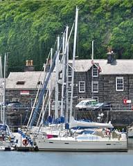1758 v1 Yachts in Porthmadog Marina (Andy panomaniacanonymous) Tags: 20160606 cymru gwynedd marina masts mmm northwales photostream porthmadog wales welshhighlandrailway yacht yyy