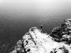 Aspetta solo un po' (Deni96bo) Tags: sea blackandwhite man black love beautiful landscape see big amazing spain waiting formentera