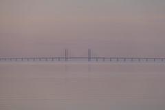 Calm at Sunset (Infomastern) Tags: bridge sunset sea sky water himmel tranquility calm serenity bro vatten hav hllviken solnedgng