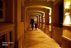 Tunnel. (Aaron T Jones) Tags: city shadow people architecture night nikon tunnel walkway luxembourg d60