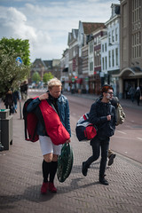 Student @ Leiden (PaulHoo) Tags: city red people urban holland students netherlands fashion leiden nikon cityscape candid citylife streetphotography lightroom 2016 streetcandid d700