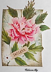 2016 - 52 Week Challenge (n2photos2009) Tags: pink art atc ink butterfly leaf delight challenge rmay n2photos may2016 artisttradingcardrose
