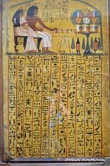 Sennedjem tomb door (konde) Tags: wood ancient tomb goddess isis osiris hieroglyphs deirelmedina maat tt1 newkingdom 19thdynasty sennedjem rahorakty