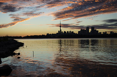 My Heart's on Fire DSL5002 (iloleo) Tags: sunset toronto canada reflection skyline clouds landscape scenic colourful lakeontario nikond7000