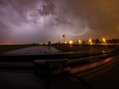 2016-05-28 (Gregg Kiesewetter) Tags: storm weather illinois wideangle thunderstorm dashboard lighning normalil normalillinois photostack rokinon8mmfisheye watertorwer