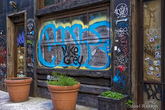 East Village Graffiti (Joel Raskin) Tags: street nyc streetart eastvillage graffiti manhattan lowereastside boardedwindow
