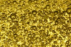 Golden bubbly riot -[ HMM ]- (Carbon Arc) Tags: macro golden pattern bubbles shampoo viscous colorefexpro macromondays nikcollection