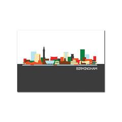 birmingham postcard (rethinkthingsltd) Tags: city london skyline liverpool buildings bristol newcastle landscape manchester mugs design town birmingham edinburgh cityscape graphic postcard leeds badge postcards mug local badges iconic