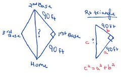 baseball diamond problem (patriciamercier) Tags: mercier baseballdiamond pythagoreantheorem