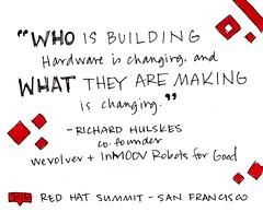 Keynote: Richard Hulskes (Red Hat's official stream) Tags: redhat redhatsummit sketchnotes rhsummit inmoov wevovler