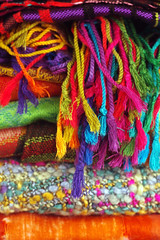 Pashminas - Getty (JebbiePix) Tags: texture scarf colorful fabric getty scarves carf