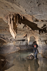 Sherrill Wilson, Merrybranch Cave, White County, Tennessee 1 (Chuck Sutherland) Tags: water tn tennessee formation limestone cave geology karst stalactite whitecounty sherrillwilson merrybranchcave
