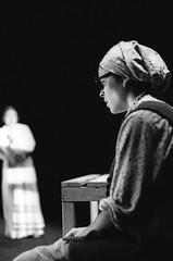 Foxfinder (Noemi Esposito, Gisella Szaniszl) (Federico Pitto) Tags: bw theatre genova hp5 pushprocess nikonfe2 id11 nikkor50mm14 teatrostabilegenova