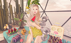 Summer Treats (Gabriella Marshdevil ~ Trying to catch up!) Tags: summer food cute asian doll watermelon sl secondlife kawaii tsg mishmish astralia kustom9 kawaiiproject projectse7en