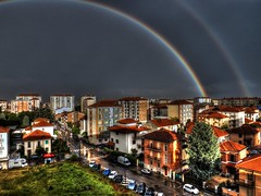 Arcoiris (roberto.piscitello) Tags: panorama storm arcoiris landscape nuvole grigio cielo arcobaleno hdr temporale tempesta platinumpeaceaward