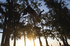 Backflip (L.pierre) Tags: sun beach reunion sport island nikon tricks slackline backflip trickline