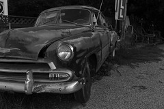 Car (khybinette) Tags: morning blackandwhite bw car canon texas granbury