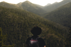 (kendall.plant) Tags: nature outdoors hiking hike hiker mountains trees green travel wanderlust fade sony a7 55mm california light sunrise golden portrait hat