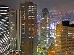 shinjuku night view (sapphire_rouge) Tags: statue japan night japanese tokyo shinjuku   nightview      tokyometropolitangoverment