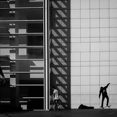 Skate or Die (sergi_escribano) Tags: barcelona city blackandwhite blancoynegro monochrome museum architecture shadows streetphotography skate skateboard streetphoto macba streetshot monocromtico architecturephotography streetsofbarcelona skatelife barcelonastreetphotography